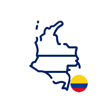 Colombia Icon with flag