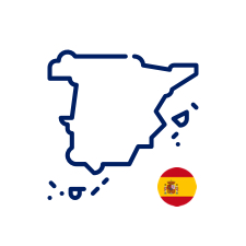 Spain icon with flag